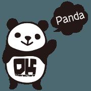สติ๊กเกอร์ไลน์ DK Moving Panda Sticker