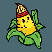 สติ๊กเกอร์ไลน์ Cute Vegetables 1 (Indonesia)