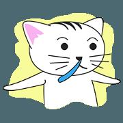 สติ๊กเกอร์ไลน์ the_white_cat