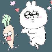 สติ๊กเกอร์ไลน์ Move!Rabbit & Carro-san