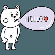 สติ๊กเกอร์ไลน์ noamaman bear sticker3