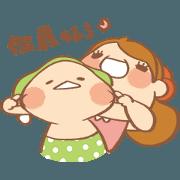 สติ๊กเกอร์ไลน์ mini Hana's dynamic stickers