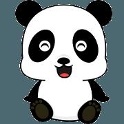 สติ๊กเกอร์ไลน์ Beautiful panda