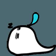 สติ๊กเกอร์ไลน์ Sleeping Ghosty