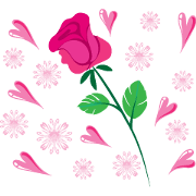 สติ๊กเกอร์ไลน์ Send you a flower every day