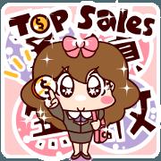 สติ๊กเกอร์ไลน์ Little Shine's OL Life (Top Sales)