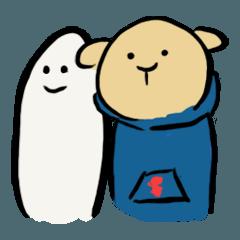 สติ๊กเกอร์ไลน์ Mu-chan&Sirotan