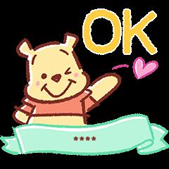 สติ๊กเกอร์ไลน์ Winnie the Pooh Custom Stickers