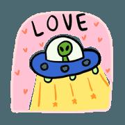 สติ๊กเกอร์ไลน์ โพโมโตะ มนุษย์อวกาศ