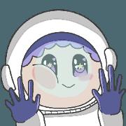 สติ๊กเกอร์ไลน์ บูบู้ นักบินอวกาศ