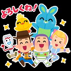สติ๊กเกอร์ไลน์ Toy Story 4 Stickers by Takashi Mifune