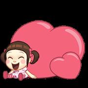 สติ๊กเกอร์ไลน์ Neneng Gesrek: เด็กหญิงวอแวมาบอกรัก
