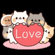 สติ๊กเกอร์ไลน์ Full of Cats Animated Stickers 2