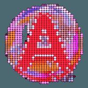 สติ๊กเกอร์ไลน์ A-Z และ 0-9 ตัวโตๆ : Big Sticker