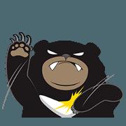 สติ๊กเกอร์ไลน์ Awei black bear