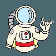 สติ๊กเกอร์ไลน์ นักท่องอวกาศ