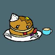 สติ๊กเกอร์ไลน์ Pancakes greet
