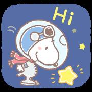 สติ๊กเกอร์ไลน์ สนูปี้ นักบินอวกาศผู้น่ารัก