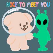 สติ๊กเกอร์ไลน์ ซูซู&ดัมดัม นักบินอวกาศ