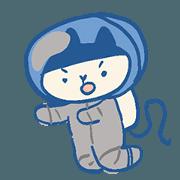 สติ๊กเกอร์ไลน์ Sweet Shop Cats : Send Me to the Mooooon