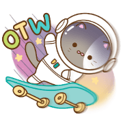 สติ๊กเกอร์ไลน์ เจ้าแมวอวกาศ