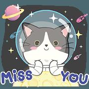 สติ๊กเกอร์ไลน์ Meow Cha-Dum : Galaxy of love!! (ENG)