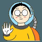 สติ๊กเกอร์ไลน์ นักบินอวกาศ เนิร์ด