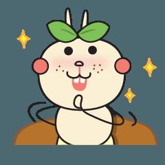 สติ๊กเกอร์ไลน์ Bonbon little worm