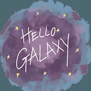 สติ๊กเกอร์ไลน์ Hello space galaxy