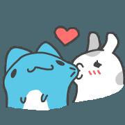สติ๊กเกอร์ไลน์ BugCat Capoo & Tutu-love and eat