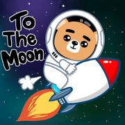 สติ๊กเกอร์ไลน์ หมีคริปโต To the Moon