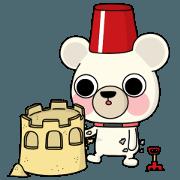 สติ๊กเกอร์ไลน์ Three bear story 'NamGeug vacation'