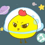 สติ๊กเกอร์ไลน์ ท่องอวกาศไปกับดาวลูกไก่