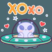 สติ๊กเกอร์ไลน์ Hello Aliens !