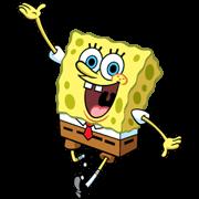 สติ๊กเกอร์ไลน์ SpongeBob กับกางเกงตัวเก่ง