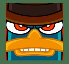 Perry/Agent P: Unique Faces sticker #28385