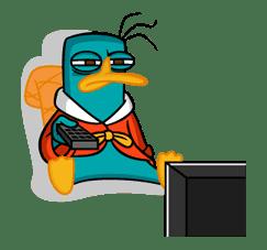 Perry/Agent P: Unique Faces sticker #28389