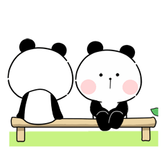 Marshmallow Panda : Best Friend