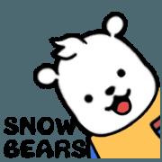 สติ๊กเกอร์ไลน์ moving snowbears