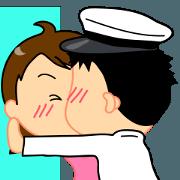 สติ๊กเกอร์ไลน์ Navy lover-1