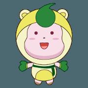 สติ๊กเกอร์ไลน์ The cutest mascot in the world HANJI boy