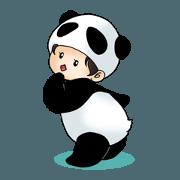 สติ๊กเกอร์ไลน์ Stuffed Panda