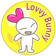 สติ๊กเกอร์ไลน์ Lovvy Bunny