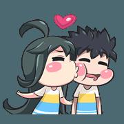 สติ๊กเกอร์ไลน์ Lily and Marigold Jun Lemon Chibi 2