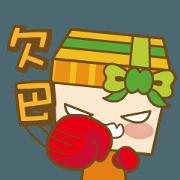 สติ๊กเกอร์ไลน์ Moving Jifu Girl
