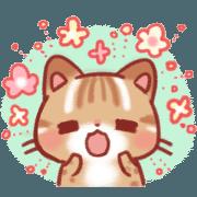 สติ๊กเกอร์ไลน์ Cute Leopard Cat(Japanese)