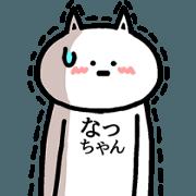 สติ๊กเกอร์ไลน์ Animation sticker of Natchan