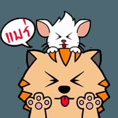 สติ๊กเกอร์ไลน์ Baby Cat & Baby Cute Rat