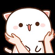 สติ๊กเกอร์ไลน์ Mochi Mochi Peach Cat & Friend