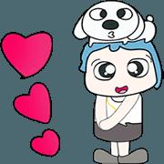สติ๊กเกอร์ไลน์ Mr. Naoki and dog. Love dog..^^